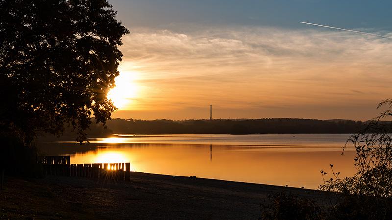 Sonnenuntergang am Stausee Bautzen